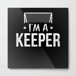 Goalkeeper Soccer Balls Sport Metal Print