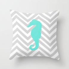 Chevron Seahorse Throw Pillow