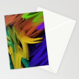 Abstract 3 Painting in Oil Stationery Cards