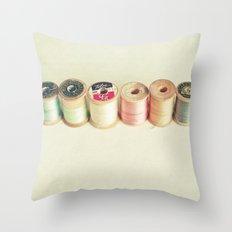 Pastel Thread Throw Pillow