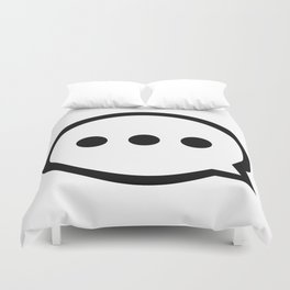 Message Bubble Duvet Cover