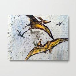 Pterodactyls Metal Print