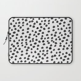 Hand painted monochrome dot pattern Laptop Sleeve