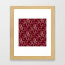 Pattern red shutter Framed Art Print