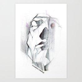 Futuristic Cyborg 6 Art Print