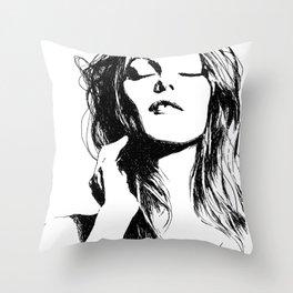 Vanessa Paradis II Throw Pillow