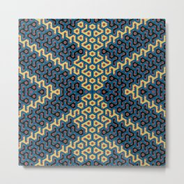 Squiggle Trails Most Awesome Yellow Red Blue and Black Metal Print