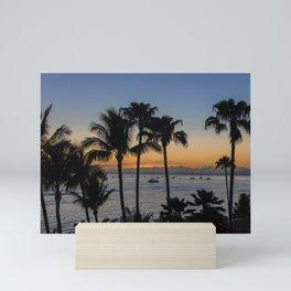 Tropical Paradise Sunset Mini Art Print