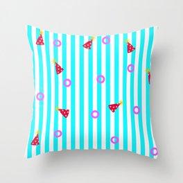 Baby shark pattern. Baby birthday pattern. Pink pattern Throw Pillow