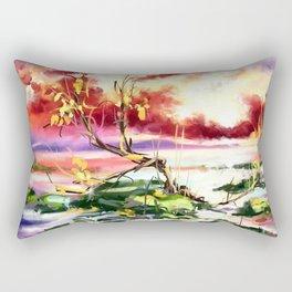 Evening at the beach Rectangular Pillow