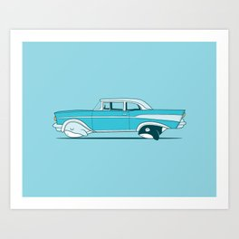 Reinventing the whale Art Print