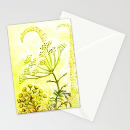 Tansy and Great mullein Stationery Cards
