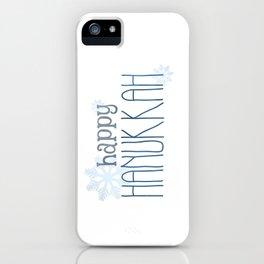 Happy Hanukkah | Snowflakes iPhone Case