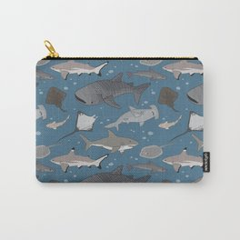Sharks and Rays Carry-All Pouch