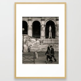 Priest Passing By, Rome Framed Art Print