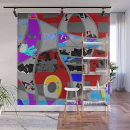 Clouded rainbows abstract modern Wall Mural