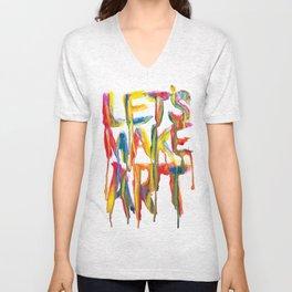 LET'S MAKE ART Unisex V-Neck