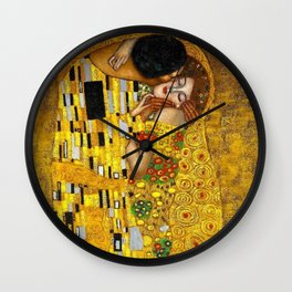 The Kiss Painting Gustav Klimt Wall Clock