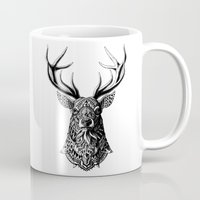 bioworkz Mugs featuring Ornate Buck by BIOWORKZ