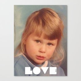White Love Canvas Print