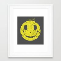 paramore Framed Art Prints featuring Music Smile V2 by Sitchko Igor