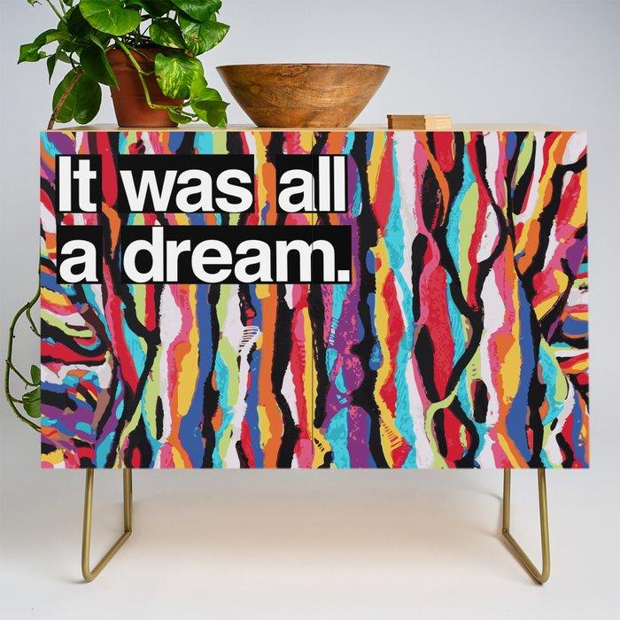 """""""It Was All A Dream"""" Biggie Smalls Inspired Hip Hop Design Credenza"""