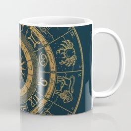 Vintage Zodiac & Astrology Chart | Royal Blue & Gold Coffee Mug