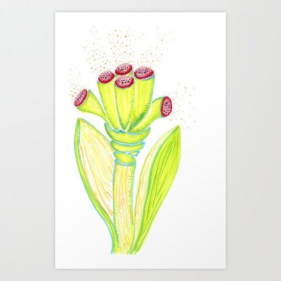 Fantasy Flower Art Print