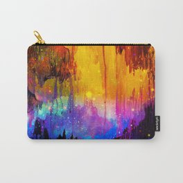 CASTLES IN THE MIST Magical Abstract Acrylic Painting Mixed Media Fantasy Cosmic Colorful Galaxy  Carry-All Pouch