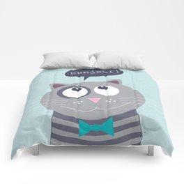 Cat bonjour Comforters