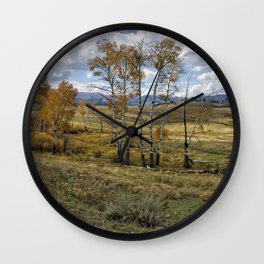 Lamar Valley in the Fall - Yellowstone Wall Clock