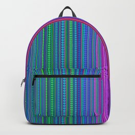 Abstract rainbow dots and lines Backpack