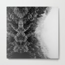 black forest abstract nature landscape print smoke look Metal Print