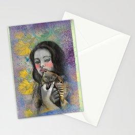 One wish Goldfish Stationery Cards