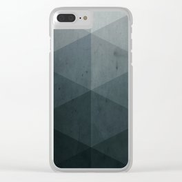 geometric gray shades Clear iPhone Case