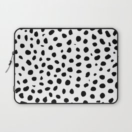 Black And White Cheetah Print Laptop Sleeve