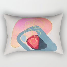 Modern minimal forms 44 Rectangular Pillow