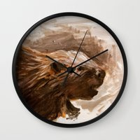 beaver Wall Clocks featuring Awenda Beaver by Patrick S. Brown