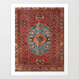 Bidjar Antique Kurdish Northwest Persian Rug Print Kunstdrucke
