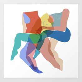 Dancers in Color Art Print