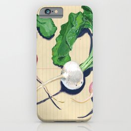 Easter Egg Radishes in Gouache iPhone Case