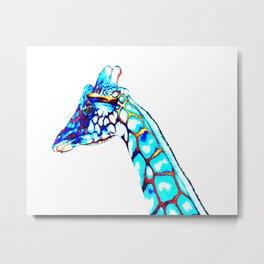Colorful Giraffe, Pop Art, Modern Art, ColorfulAnimalArt Metal Print