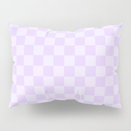 Large Chalky Pale Lilac Pastel Checkerboard Pillow Sham