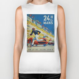 24hs Le Mans, 1959, vintage poster Biker Tank