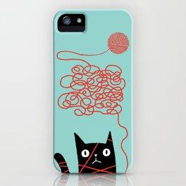 Tangled Cat iPhone Case
