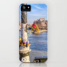 Pont des Arts on Valentine's day iPhone Case