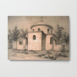 Old church | sketch Metal Print