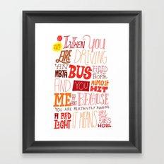 MBTA: Fun Fact! Framed Art Print
