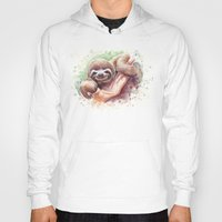 sloth Hoodies featuring Sloth by Olechka