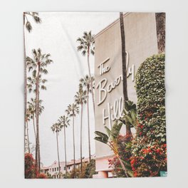The Beverly Hills Hotel / Los Angeles, California Throw Blanket